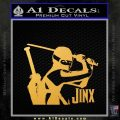 GI Joe Retaliation Jinx Ninja Decal Sticker Gold Vinyl 120x120