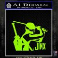 GI Joe Retaliation Jinx Ninja Decal Sticker Lime Green Vinyl 120x120