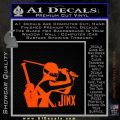 GI Joe Retaliation Jinx Ninja Decal Sticker Orange Emblem 120x120