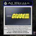 GI Joe Wide Decal Sticker Yellow Laptop 120x120