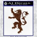 Game Of Thrones Decal Sticker House Lannister BROWN Vinyl 120x120