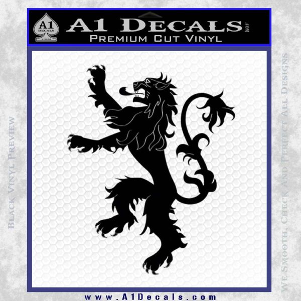 Game Of Thrones Decal Sticker House Lannister 187 A1 Decals