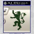 Game Of Thrones Decal Sticker House Lannister Dark Green Vinyl 120x120