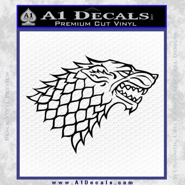Game of thrones decal sticker house stark black vinyl