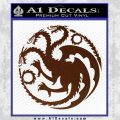 Game Of Thrones Decal Sticker House Targaryen BROWN Vinyl 120x120