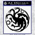 Game Of Thrones Decal Sticker House Targaryen Black Vinyl 120x120