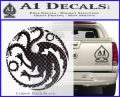 Game Of Thrones Decal Sticker House Targaryen Carbon FIber Black Vinyl 120x97