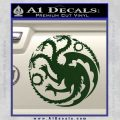 Game Of Thrones Decal Sticker House Targaryen Dark Green Vinyl 120x120