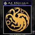 Game Of Thrones Decal Sticker House Targaryen Gold Vinyl 120x120