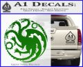 Game Of Thrones Decal Sticker House Targaryen Green Vinyl Logo 120x97