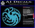 Game Of Thrones Decal Sticker House Targaryen Light Blue Vinyl 120x97