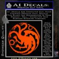 Game Of Thrones Decal Sticker House Targaryen Orange Emblem 120x120