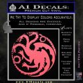 Game Of Thrones Decal Sticker House Targaryen Pink Emblem 120x120