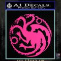 Game Of Thrones Decal Sticker House Targaryen Pink Hot Vinyl 120x120