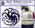 Game Of Thrones Decal Sticker House Targaryen PurpleEmblem Logo 120x97