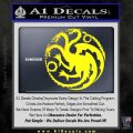 Game Of Thrones Decal Sticker House Targaryen Yellow Laptop 120x120