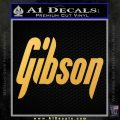 Gibson Guitars Decal Sticker Gold Vinyl 120x120