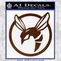 Green Hornet Decal Sticker BROWN Vinyl 120x120