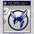 Green Hornet Decal Sticker Blue Vinyl 120x120