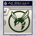 Green Hornet Decal Sticker Dark Green Vinyl 120x120