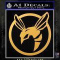 Green Hornet Decal Sticker Gold Vinyl 120x120