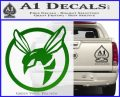 Green Hornet Decal Sticker Green Vinyl Logo 120x97