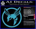 Green Hornet Decal Sticker Light Blue Vinyl 120x97