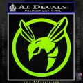 Green Hornet Decal Sticker Lime Green Vinyl 120x120