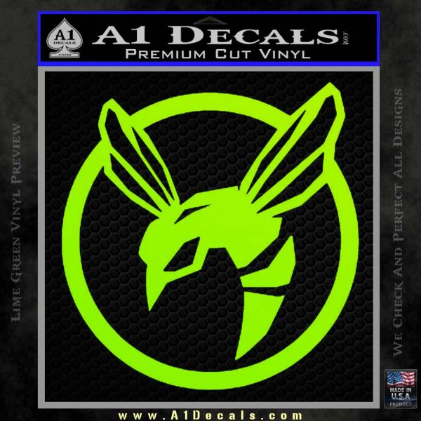 Green Hornet Decal Sticker Lime Green Vinyl