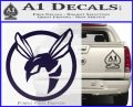 Green Hornet Decal Sticker PurpleEmblem Logo 120x97