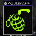 Grenade 3D2 Decal Sticker Lime Green Vinyl 120x120