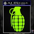 Grenade Decal Sticker Lime Green Vinyl 120x120