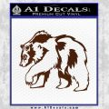 Grizzly Bear Decal Sticker Walking BROWN Vinyl 120x120