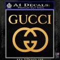 Gucci Full Decal Sticker Gold Vinyl 120x120