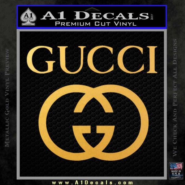 Gucci Full Decal Sticker Gold Vinyl
