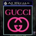 Gucci Full Decal Sticker Pink Hot Vinyl 120x120