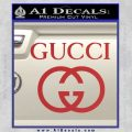 Gucci Full Decal Sticker Red 120x120