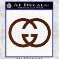 Gucci Logo Decal Sticker BROWN Vinyl 120x120