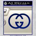 Gucci Logo Decal Sticker Blue Vinyl 120x120