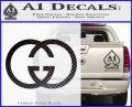 Gucci Logo Decal Sticker Carbon FIber Black Vinyl 120x97