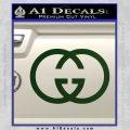 Gucci Logo Decal Sticker Dark Green Vinyl 120x120