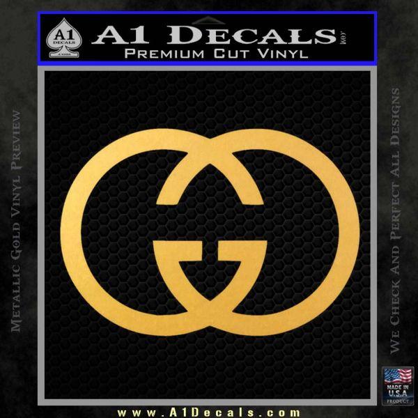 Gucci Logo Decal Sticker Gold Vinyl