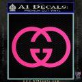 Gucci Logo Decal Sticker Pink Hot Vinyl 120x120
