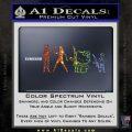 Gun People Decal Sticker Glitter Sparkle 120x120