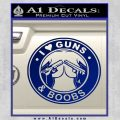 Guns And Boobs Starbucks Molon Labe Decal Sticker Blue Vinyl 120x120