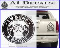 Guns And Boobs Starbucks Molon Labe Decal Sticker Carbon FIber Black Vinyl 120x97