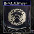 Guns And Boobs Starbucks Molon Labe Decal Sticker Metallic Silver Emblem 120x120