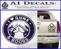 Guns And Boobs Starbucks Molon Labe Decal Sticker PurpleEmblem Logo 120x97