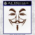 Guy Fawkes Anonymous Mask V Vendetta D3 Decal Sticker BROWN Vinyl 120x120