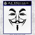 Guy Fawkes Anonymous Mask V Vendetta D3 Decal Sticker Black Vinyl 120x120